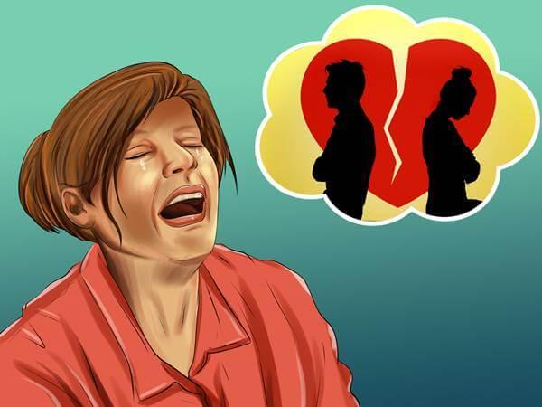 Foto de una chica llorando por su ex