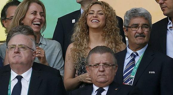 Reacciones de Shakira en final de Copa Confederaciones