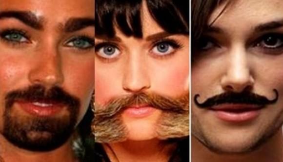 Vean a las famosas con barba