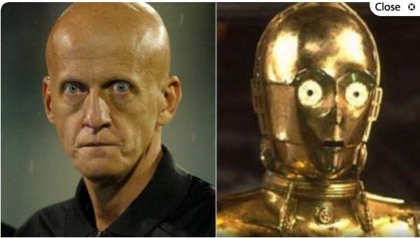Pierluigi Collina y C-3PO
