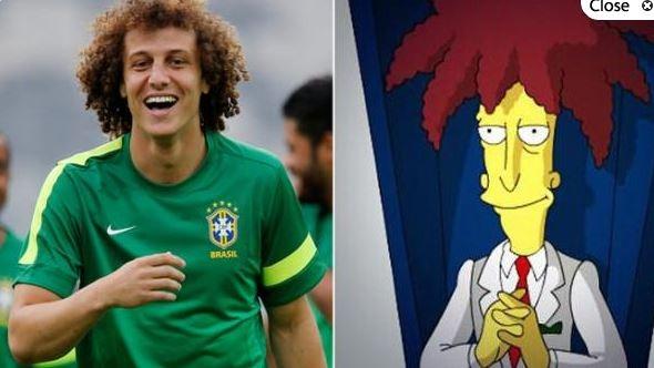David Luiz y Bob Patiño
