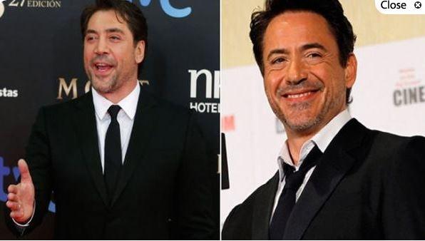 Javier Bardem y Robert Downey Jr.