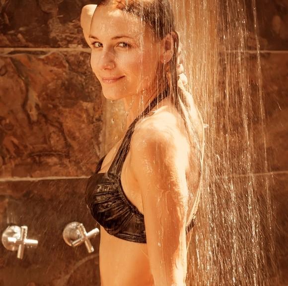 Arma de belleza: agua fría