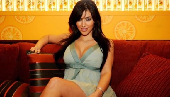 Sensual foto de Kim Kardashian después del embarazo