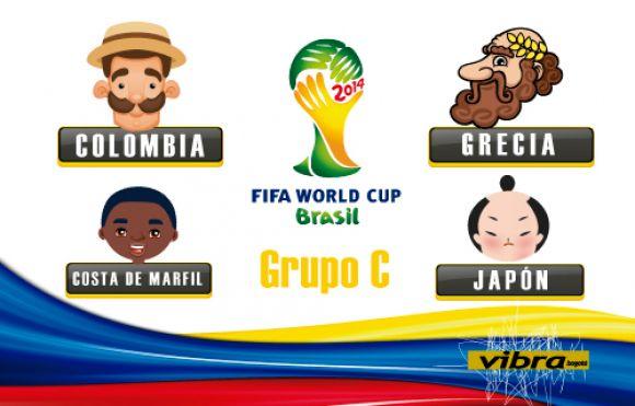 Colombia con un grupo parejo en el Mundial de Brasil 2014