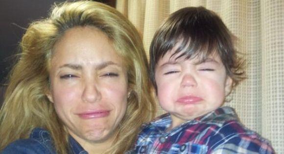 Los pucheros de Milan y su mamá Shakira