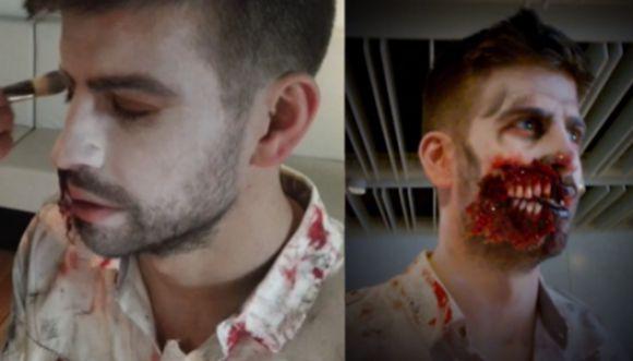 Gerard Piqué se transformó en zombie