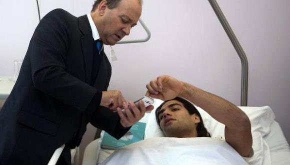 Montaje del video en la cirugía de Falcao