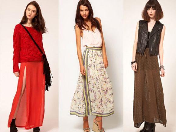 Los mejores looks para usar faldas largas