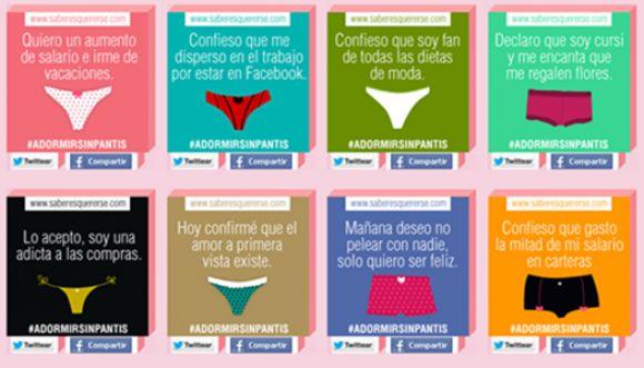 A dormir sin panties: campaña especial para mujeres