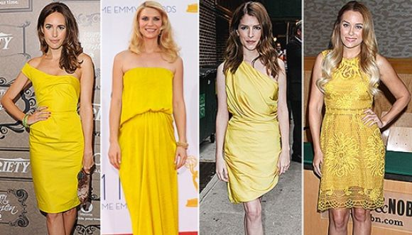 Ultima tendencia: color amarillo