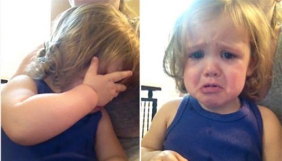 ¡Qué tal la reacción tan tierna y emotiva de la nene!