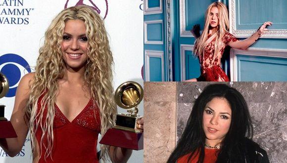 Transformación de Shakira, antes y después
