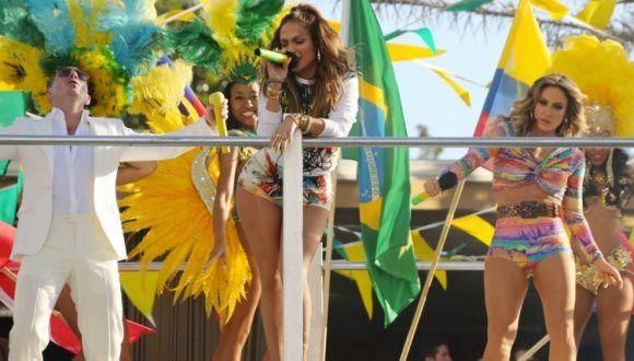 Así fue la previa del Mundial con Jennifer Lopez