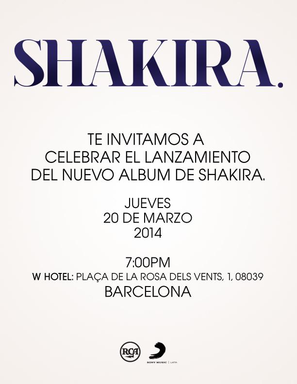 Invitación Shakira