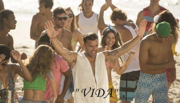 "Ricky Martin estrenó video de ""Vida"", canción del Mundial"