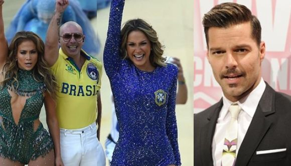 Ricky Martin a favor del show de J.Lo y Pitbull en el Mundial