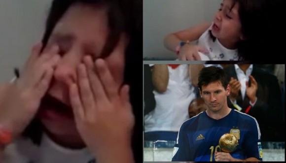 Niña llora porque Messi ganó el balón de oro