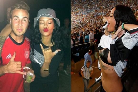 ¡Qué tal el festejo de Rihanna y el campeón del Mundial 2014!