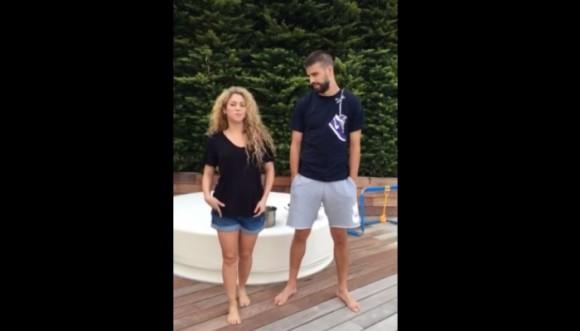 Shakira y Piqué en el #IceBucketChallenge