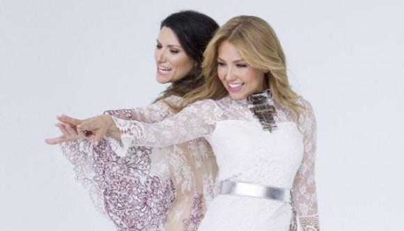 "Thalia y Laura Pausini graban juntas ""sino a ti"""