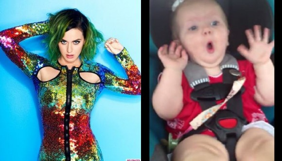 Bebé deja de llorar con cación de Katy Perry