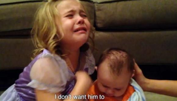 """Niña: """"no quiero que mi hermano crezca"""""""