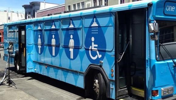 Buses se transforman en duchas