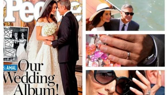 El vestido de la novia de George Clooney