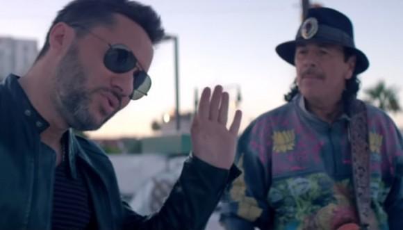 Santana y Diego Torres cantan al Amor Correspondido Video