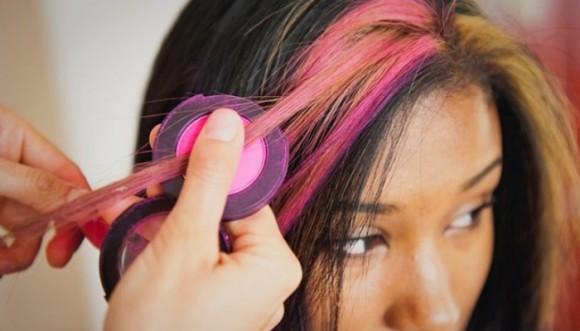Tiñe tu pelo con tiza (fotos)