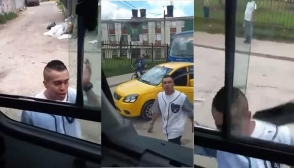 Taxista se 'sale de los chiros' con un conductor de SITP