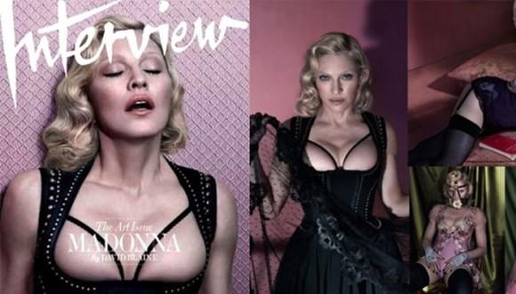 Madonna muestra sus atributos en una revista