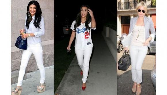 Tips para lucir pantalones blancos