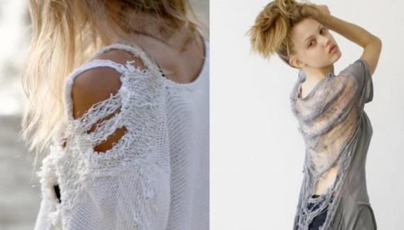 ¡Llegó la moda del suéter roto!