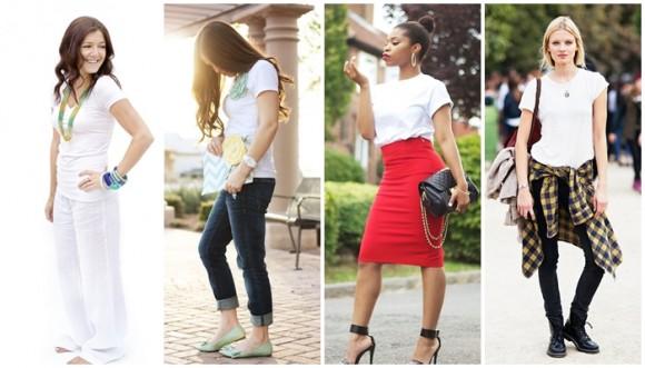Reinventa tu clásica camiseta blanca