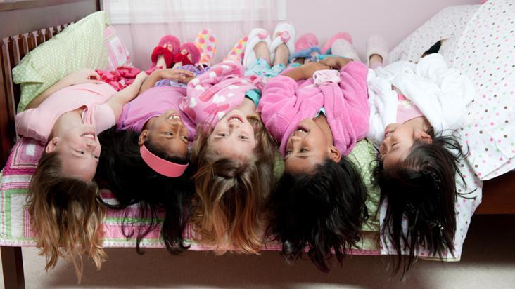 Foto de niñas de la misma familia