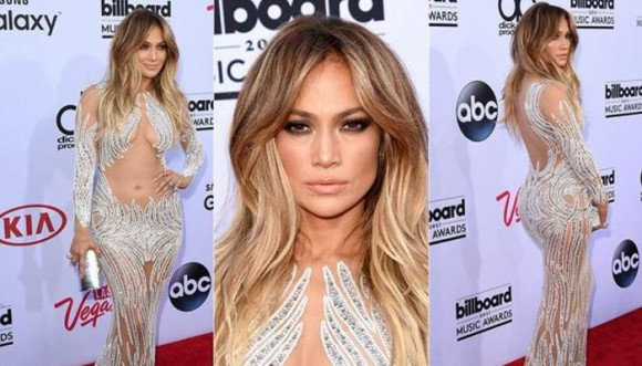 Jennifer Lopez y otras famosas con vestidos que lo muestran todo