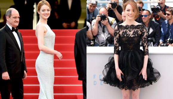 Emma Stone y otras famosas de gala vs fiesta en el Festival de Cannes