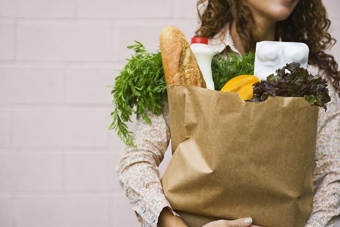 grocery bag woman