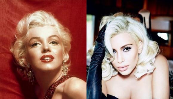 Kim Kardashian y otras famosas que imitan a Marilyn Monroe