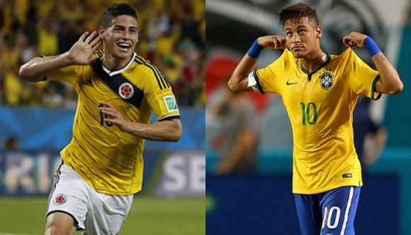 Así son los hombres del partido Colombia vs. Brasil
