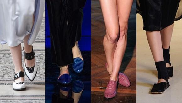 Zapatos bajitos en las pasarelas de alta costura