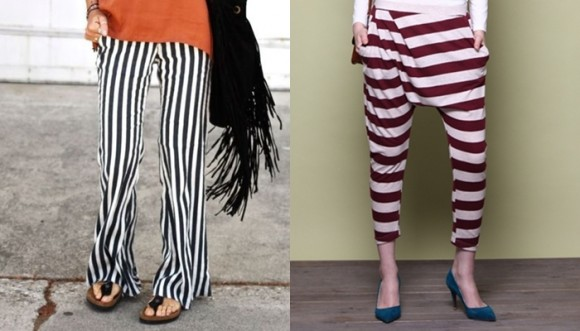 Qué pantalones a rayas usar si eres o no caderona