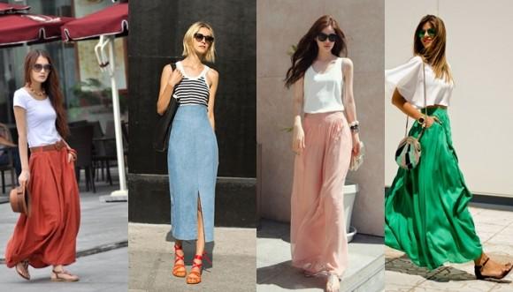 Falda larga y sandalias, la combinación perfecta para vacaciones