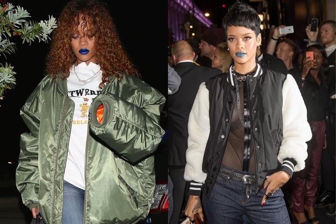 rihanna blue lipstick int