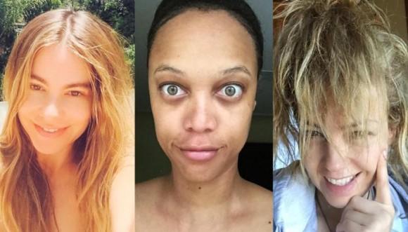 Las actrices muestran su lado más natural sin maquillaje