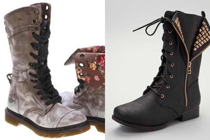 Botas militares: ahora mucho más fashion