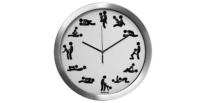 aluminum sex clock 14 inches
