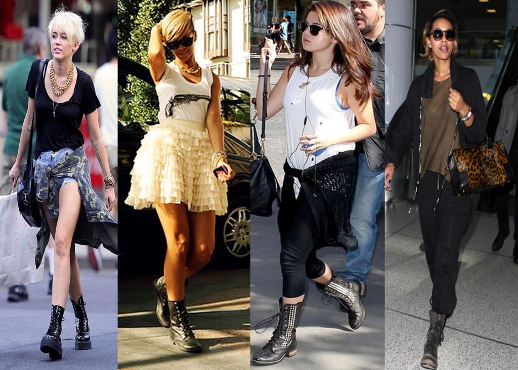 Botas militares usadas por famosos: ahora mucho más fashion